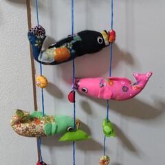 風車/ワンバイ/ツーバイフォー/ダイソー/ハンドメイド/鯉のぼり/... 孫っちに 木で、こいのぼり作ってみた🎏 …(4枚目)