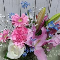 花/小さい春 彼女の離職式で貰った花束💐から指し直す時…