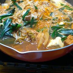 鍋/美味い/晩ご飯/三番/赤から鍋 昨日の晩ご飯は 赤から鍋の素 三番で ホ…