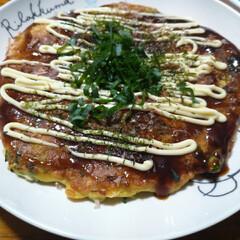 晩ご飯/関西風/お好み焼き/おうちごはん 本日の晩ご飯は 関西風お好み焼きに😊  …