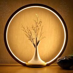 花/照明/ランプ 花を飾る照明「O Lamp」 空間の中心…