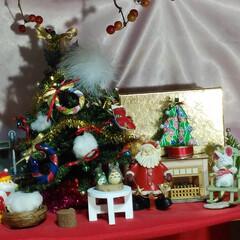 和柄の小物/クリスマス2019 和柄のクリスマスツリーとリースを手作りし…