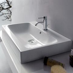 セラトレーディング/洗面所/洗面ボウル/デザイン/インテリア/住まい/... 水の流れまでもデザインされた洗面ボウル。…