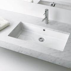 セラトレーディング/シンプル/洗面ボウル/シンプルな暮らし/こだわりの家/建築家/... シンプルで清潔感のある空間は、気持ちをす…