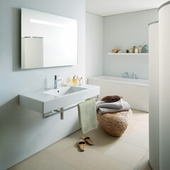 セラトレーディング/こだわりの家/インテリア/マイホーム/シンプル/住まい/... モダンデザインで直線が特徴的な洗面ボウル…