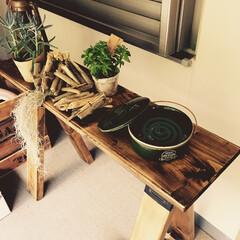 多肉植物/蚊取り線香/ソーホースブラケット/収納 玄関前に蚊取り線香置き台兼飾り棚をソーホ…