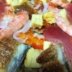 チラシ寿司/グルメ/ひな祭り どアップ チラシ寿司ヾ(○^з^○)/ …