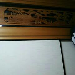 欄間/和室/DIY/住まい/リフォーム 欄間からエアコンの熱が逃げるのを防ぐため…
