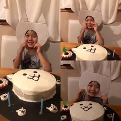 手作りケーキ/お誕生日 28日孫宅が6歳のお誕生日でした🎂🎉 い…