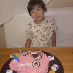 お誕生日/バースデーケーキ/親子て手作りケーキ 孫の誕生日🎂🎉 7歳になりました🎉 ママ…(2枚目)