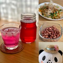 おうちごはん/手作り小物 昨日今日で作ったもの  ・赤紫蘇ジュース…