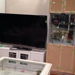 ビフォーアフター/テレビボード/壁面収納/リメイク/引越し/リビングあるある/... 家具をリメイクシートでリフォーム⚒✨  …(8枚目)