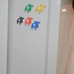 「MOZのマグネット 我が家の冷蔵庫は正面…」(2枚目)