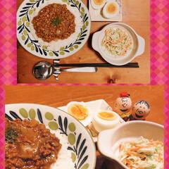 なす茄子/夕ご飯/グツグツ🎶グツグツ/煮込んで/ご馳走さまでした 今夜のメニューは 〝ナスと挽き肉のカレー…