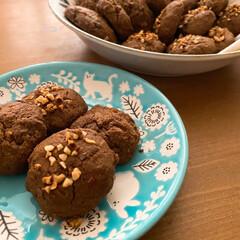 クッキー/きな粉は絶対/必ず飲みもの/忘れずに/器がふたつ/仲間入り/... お取り寄せおやつのわらび餅。 てんこ盛り…