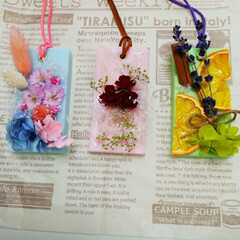 頑張ろうね/アロマワックスサシェ/ソイワックス/蜜蝋/桜🌸ドライ/お休みなさい 桜🌸のドライで(一番左)🤗💕今年は💦花見…