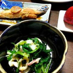 アサツキ/酢味噌和え/伝統野菜/晩酌のおつまみ ただいま😃🏠️✨今日も仕事…頑張った‼️…