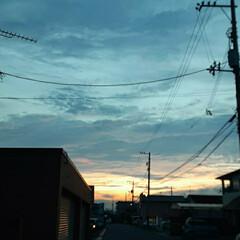 福山の空 今日の夕焼け❗