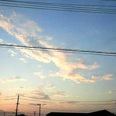 近所/👀📷✨/空/夕日 今日の夕焼けです🎵