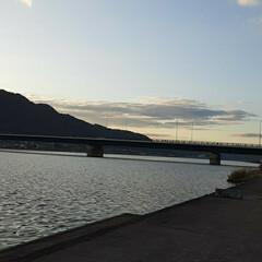 「夕方の芦田川です❗  もう少し、早ければ…」(3枚目)