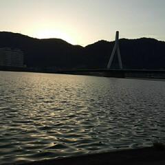 「夕方の芦田川です❗  もう少し、早ければ…」(1枚目)