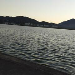 「夕方の芦田川です❗  もう少し、早ければ…」(2枚目)