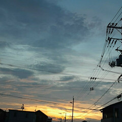 福山の空 今日の夕焼け❗(2枚目)