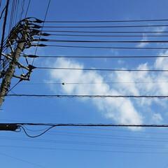 買い物に行く途中/👀📷✨/空 今日、午後の福山の空です🎵  少し汗ばむ…