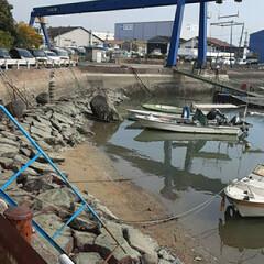 先日/福山の海沿いで/👀📷✨ 港にもボートパークも有りますが、  海が…