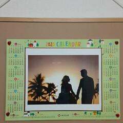 写真を/カレンダーに/ハワイで/誕生日に/二人だけで/結婚式 私の結婚写真と言いたい所ですが(笑)  …