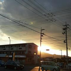 帰宅前後/👀📷✨/空/夕日 福山の今日の夕日です❗