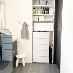 FULLERY BOTANICAL フレリーボタニカル ギフトセット17 | FULLERY BOTANICAL(柔軟剤)を使ったクチコミ「我が家の洗面所📷 稼働棚には洗濯洗剤や、…」(1枚目)