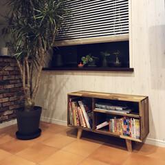 YouTube動画/こどものいる暮らし/テラコッタタイル/観葉植物/絵本棚DIY/本棚DIY/... 絵本棚、本棚DIYしました。 脚をつけた…