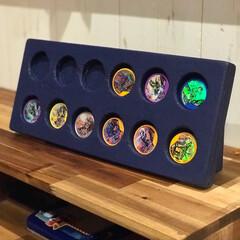 仮面ライダー/おもちゃ/DIY/収納/おもちゃ収納 仮面ライダーのメダル入れDIY 子供が楽…