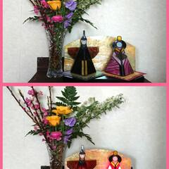 手作り/桃の花/ステンドグラス/ひな祭り/ピンク 昨日、お花の先生をしているお友達からピン…