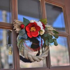 しめ縄飾り/お正月2020 今年のしめ縄飾りは 和テイストで作ってみ…