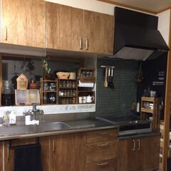 合板DIY/リメイクシート/キッチン 宣言していたキッチン扉のDIYが終わりま…