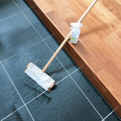 セスキの激落ちくん/リミとも部家事フォト/リミとも部/玄関掃除/掃除/ラク家事 玄関の掃除をしました。  ほうきでそのま…