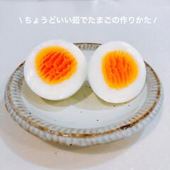お弁当おかず/おべんとう/覚書/レシピ/ゆでたまご/limiaキッチン同好会/... ちょうど良い茹で加減の茹でたまごの作りか…