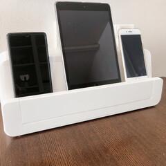 リミとも部家事フォト/リミとも部/雑貨/インテリア/コード隠し/コード収納/... スマホやタブレットは充電ステーションで充…