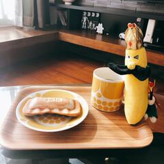 紅茶のある暮らし/紅茶/おうちカフェ/リミとも部/バナナ/チョコバナナホットサンド #チョコバナナホットサンド を作りました…