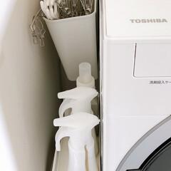 収納/洗濯/掃除/脱衣所収納/脱衣所収納問題/脱衣所収納の見直し/... 洗面所の棚の引き出しは、カゴやボックスな…(2枚目)