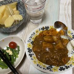 ビーフカレー🍛/夕飯 今日はカレーにしました🙋♀️   ビー…