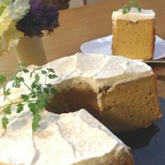 黒糖/手作りケーキ/シフォン/シフォンケーキ 🔸黒糖シフォン🔸  シフォンに挑戦😊 砂…