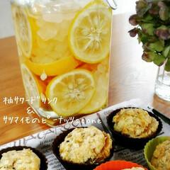おかし作り/サワードリンク/スコーン/ゆず 庭にたくさんの柚が、実ってたら、サワート…