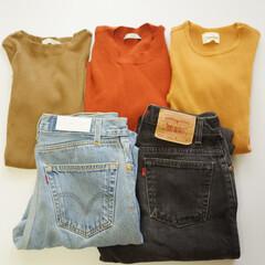 リブTシャツ/リブトップス/デニム/デニムコーデ/大人カジュアル/シンプルコーデ/... リブトップス×デニムは私の制服のようなも…