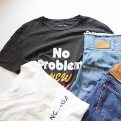 夏コーデ/ロゴT/Tシャツ/デニム/シンプルコーデ/大人カジュアル 得意予定のない日はロゴT×デニムばかり。…