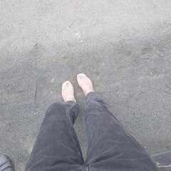 サンダル/ワンマイルコーデ/大人カジュアル/おうちコーデ/H&M/エイチアンドエム/... ワンマイルコーデ。靴下なしでササッと出か…