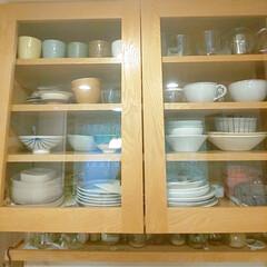 カップボード収納/食器棚/オリジナル家具/極小スペース/壁面収納/オーダー家具/... うちの食器棚は、サイズを測ってもらったオ…