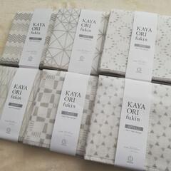 布巾/ふきん/ダイソー/100均/キッチン雑貨/雑貨/... ダイソーで購入した、シンプル可愛い「KA…